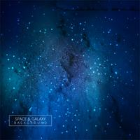Universe galaxy blue background vector