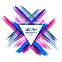 Diseño de vector de acuarela de movimiento elegante colorido moderno