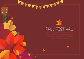 Fall Festival Färgglada Border Template