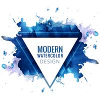 Modern blue watercolor background vector
