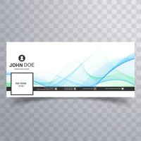 Elegant wave facebook timeline banner design vector