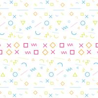 Abstract colorful memphis pattern background