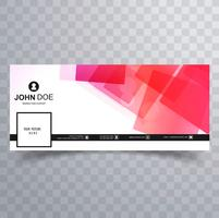 Modern facebook timeline cover template