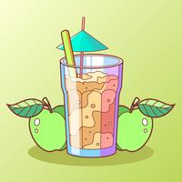 Gezonde Apple Cider Slush Vector