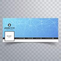 Modern facebook timeline banner technology design
