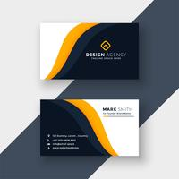 awesome yellow business card template