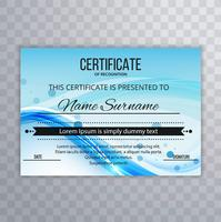 Abstract wave certificate design template