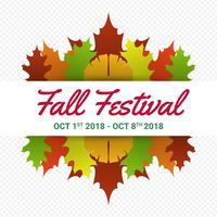 Fall Festival moderne minimalistische vector poster sjabloon