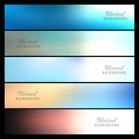 Banners borrosos coloridos hermosos set vector