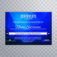 Abstract blue polygon certificate template design