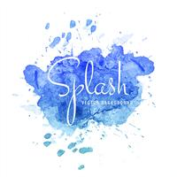 Abstract blue colorful watercolor splash vector