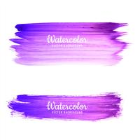 Abstract purple watercolor stroke background vector