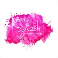 Schöner rosa Watercolor-Spritzenentwurf