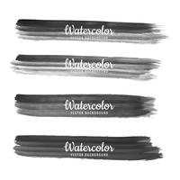 Modern black watercolor hand draw stroke design