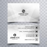 Modern geometric business card template design