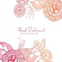 Abstract colorful artistic floral design background