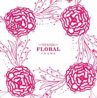 Fondo floral abstracto del marco