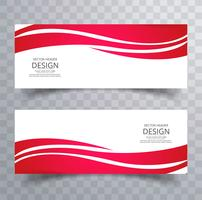 Beautiful creative wave banners set vector