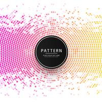 Beautiful colorful halftone pattern background illustration