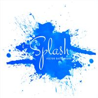 Modern blue watercolor splash background vector