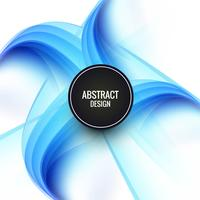 Abstract  blue creative wave background