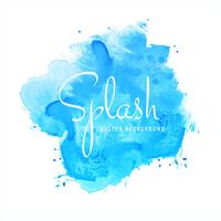 Beautiful hand paint watercolor blue splash on white background