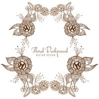 Modern artistic wedding floral design vector