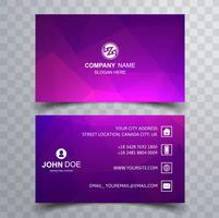 Abstract colorful polygon business card background