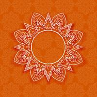 Abstract mandala floral background