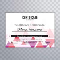 Modern certificate colorful template background
