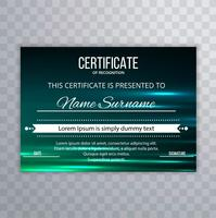 Modern elegant colorful certificate template design