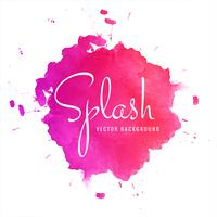 Abstract colorful watercolor splash vector