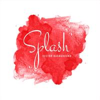 Modern red watercolor splash background