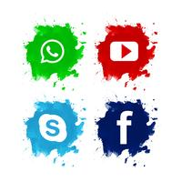 Beautiful social media icon set design