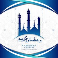 Arabic decorative ramadan kareem background