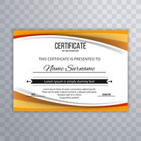 Beautiful certificate template wave design