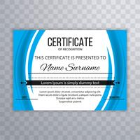 Abstract wavy certificate template background