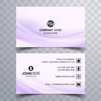 Modern wave buisness card design vector