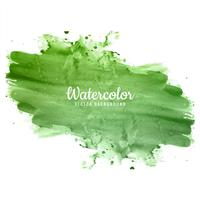 Beautiful green hand draw watercolor background vector