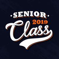 Senior Class Vintage typografie