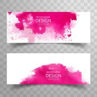 Abstract colorful watercolor banner template