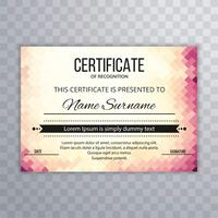 Modern certificate background template