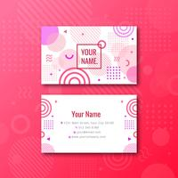 Feminine Memphis Name Card