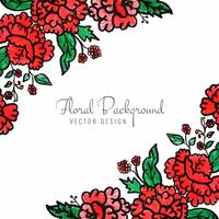 Beautiful decorative floral background vector