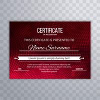 Abstract polygon certificate template design