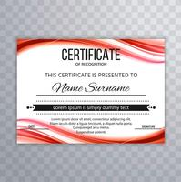Abstract colorful certificate template wave design