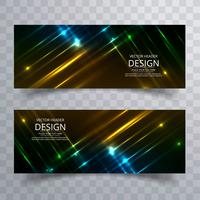 Abstract shiny bright colorful banners set