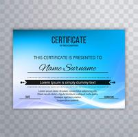 Abstract wave certificate background