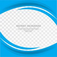 Abstract blue creative business wavy background vector