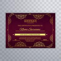 Beautiful stylish certificate template background vector